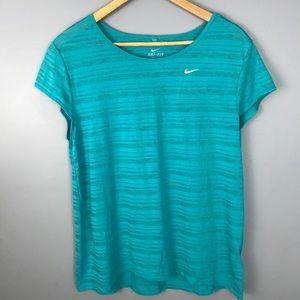 Nike teal dri-fit short sleeve T-shirt